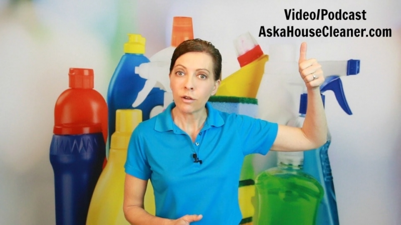 Video Podcast Ask a House Cleaner with Angela Brown