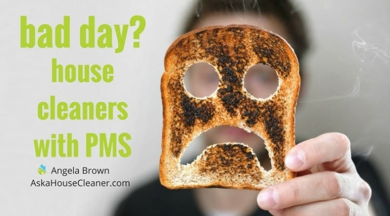 Bad Day - House Cleaners with PMS by Angela Brown, The House Cleaning Guru