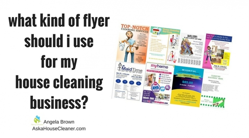 House Cleaner Training, Running Flyers, Ask a House Cleaner