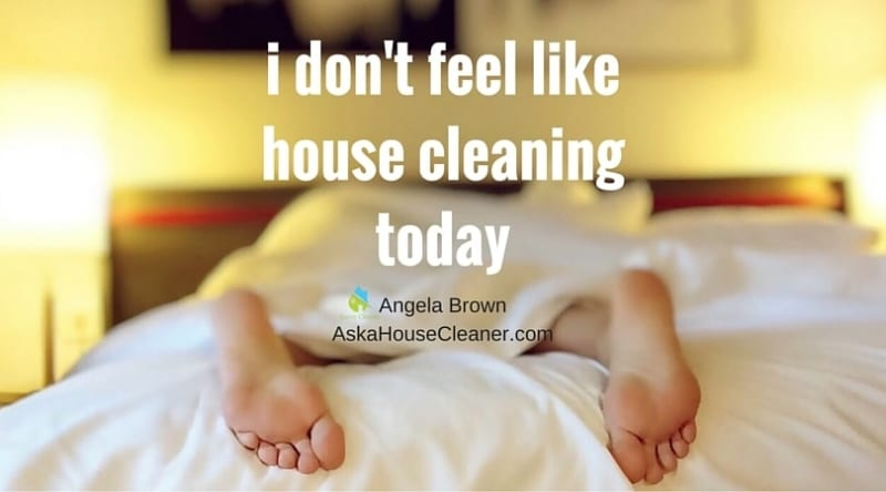 i don't feel like house cleaning today, Ask a House Cleaner