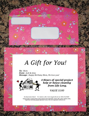 creative marketing through gift certificates, Savvy Cleaner