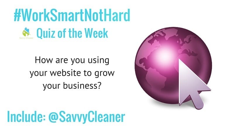 #WorkSmartNotHard your website Savvy Cleaner