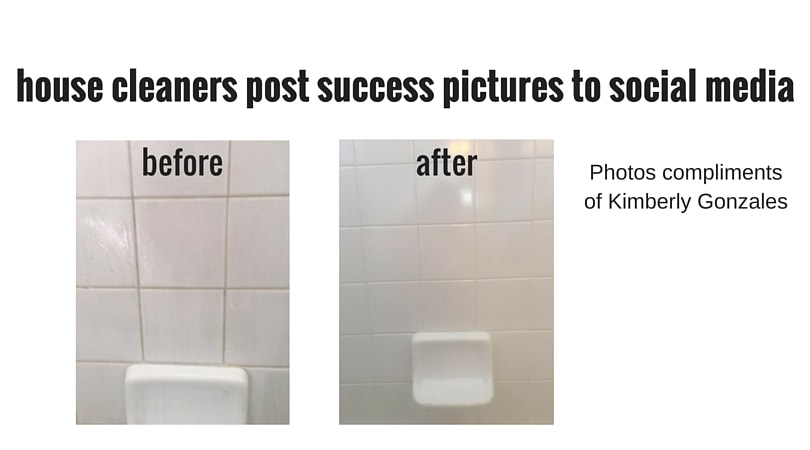 creative marketing with before and after pics, Savvy Cleaner
