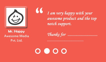 testimonial Slider for website marketing