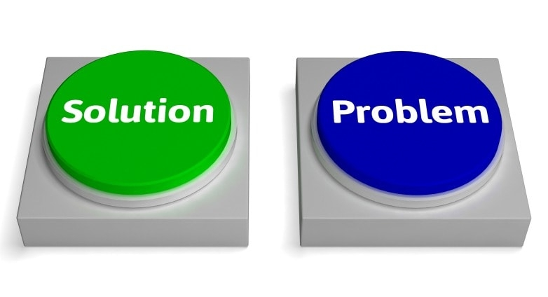 problem and solution buttons