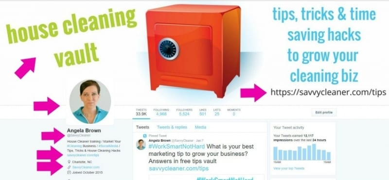 Marketing Tips with Twitter ©Savvy Cleaner