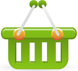 Savvy cleaner green shopping cart
