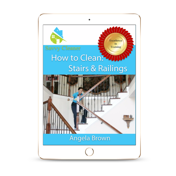 Stairs Railings, How to Clean, © Savvy Cleaner