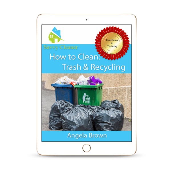 Trash, Recycling, How to Clean, ©Savvy Cleaner