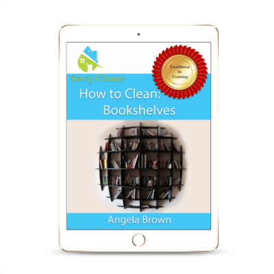 SCHT305 Bookshelves, How to Clean, Savvy Cleaner