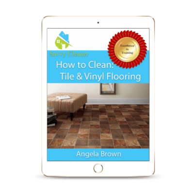 SCHT316 Tile Vinyl Flooring, How to Clean, Savvy Cleaner