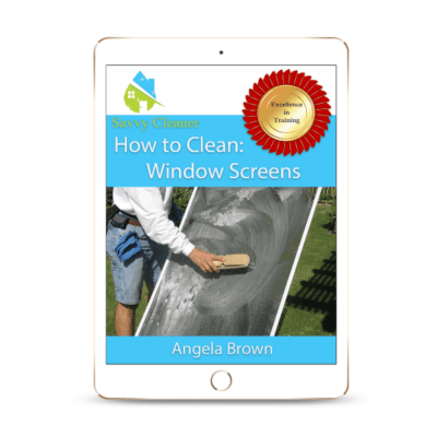 SCHT340 Window Screens, How to Clean, Savvy Cleaner