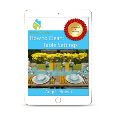 SCHT347 Table Settings, How to Clean, Savvy Cleaner