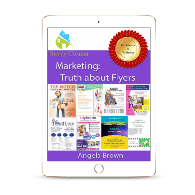 SCM203 Flyers, Marketing, Savvy Cleaner