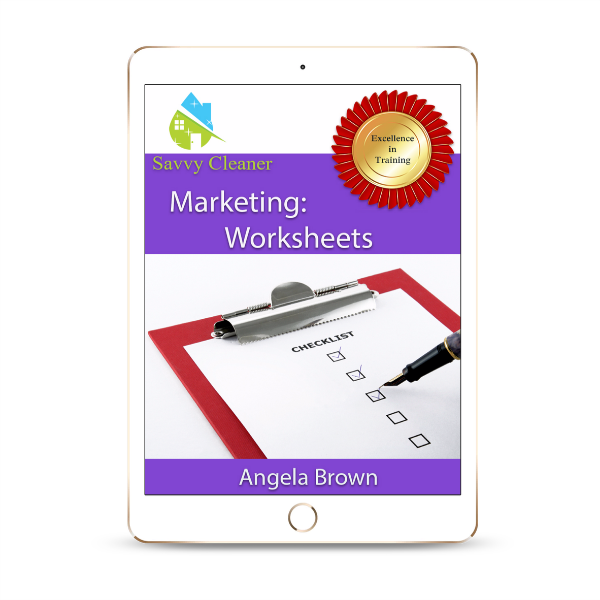 SCM204 Worksheets, Marketing, Savvy Cleaner