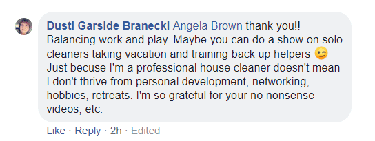 I'm so grateful for your no nonsense videos, Ask a House Cleaner Testimonial