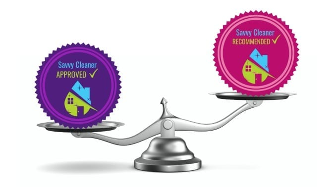 Savvy Cleaner Approved vs. Savvy Cleaner Recommended