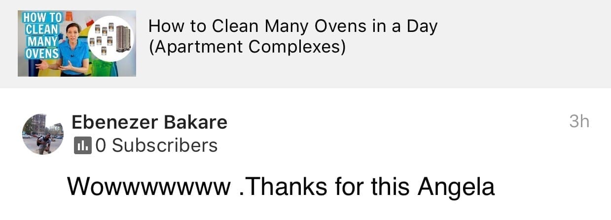 Wow, Thanks for this Angela, Ask a House Cleaner Testimonial