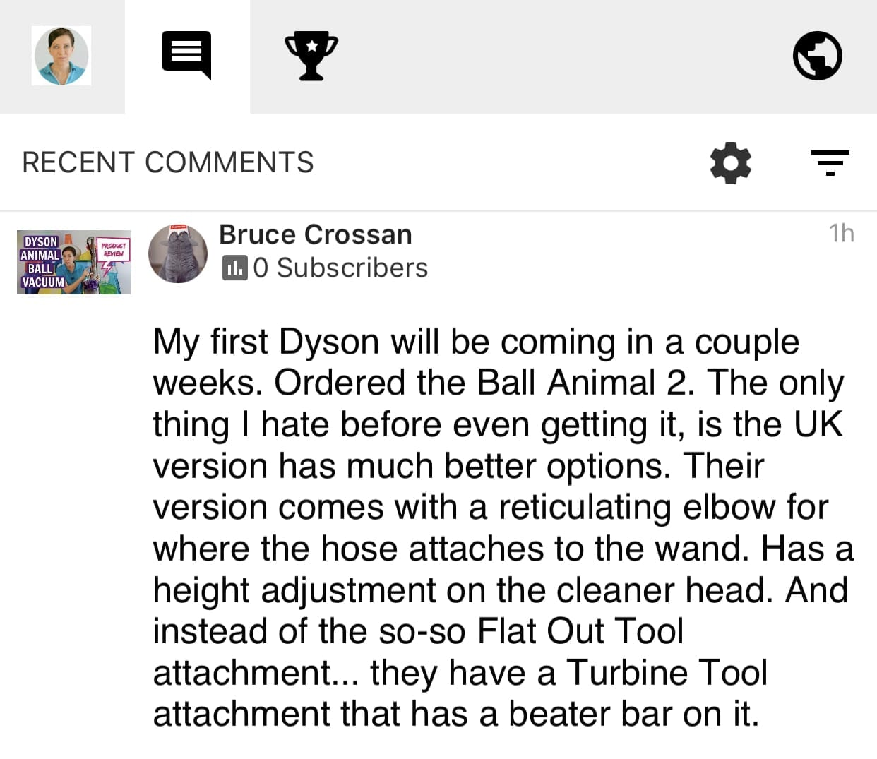 I ordered my Dyson, Savvy Cleaner Product Review, Dyson, Testimonial