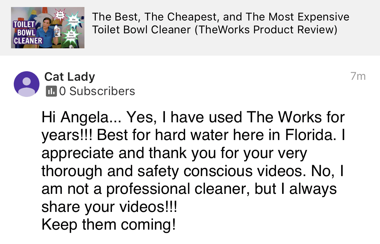 Keep them coming, Savvy Cleaner Product Review Testimonial