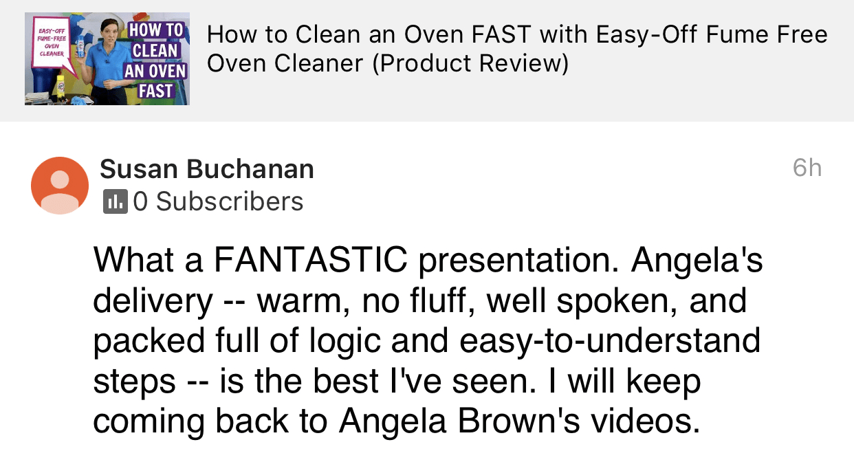 Warm, no fluff, well spoken, Savvy Cleaner Product Review Testimonial