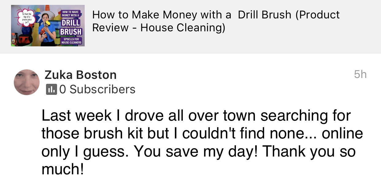 You save my day!, Savvy Cleaner Product Review Testimonial