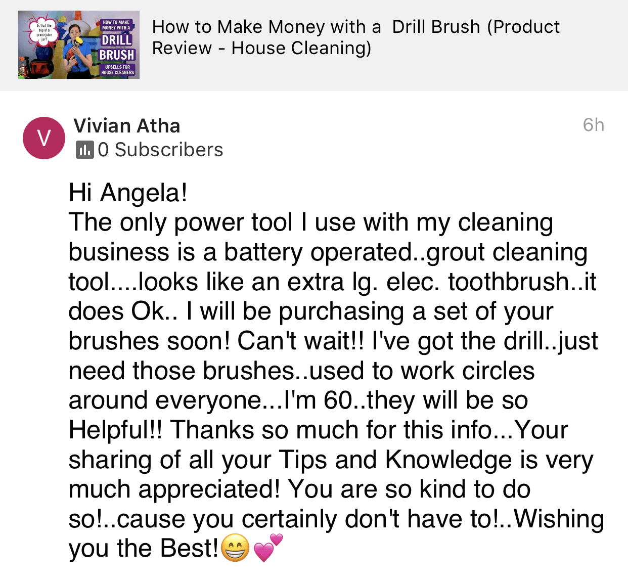Your sharing is appreciated, Savvy Cleaner Product Review Testimonial