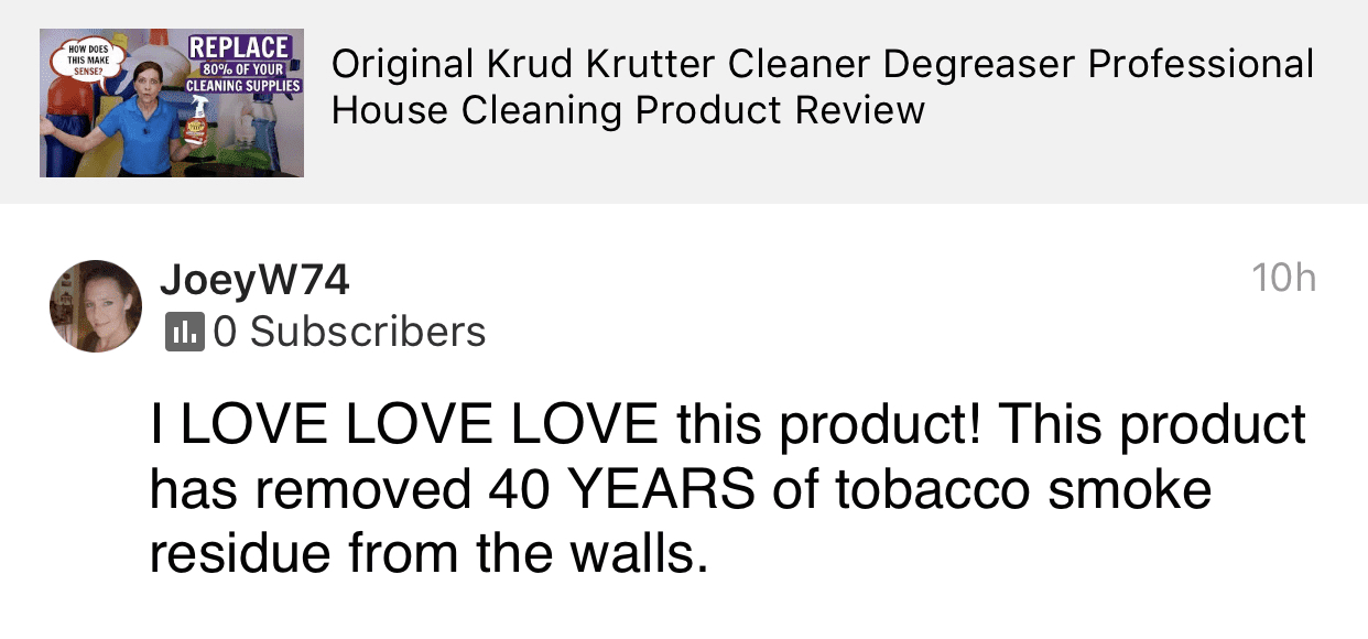 Love Krud Kutter, Savvy Cleaner Product Review Testimonial