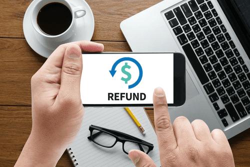 Sending Refund Via Cell Phone - Refund Illustration