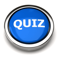 Blue 3d Quiz Button