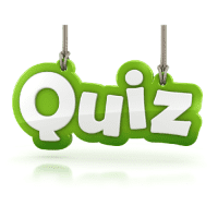 Green Quiz Hanging Sign