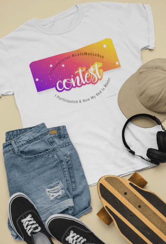 Let's Make a Bed Contest, Savvy Cleaner flat-lay-t-shirt-a-casual-skater-outfit