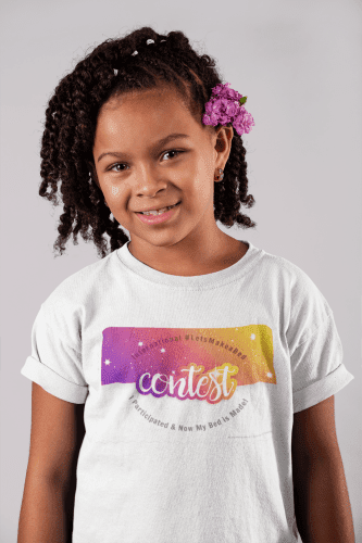 Let's Make a Bed Contest, Savvy Cleaner t-shirt-mockup-of-a-smiling-child