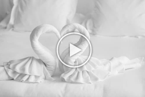 LetsMakeaBed - Folded Towels on Bed as Swans