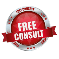 Red Free Consult 3d Button