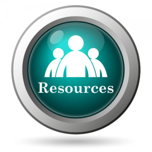 Teal Resources Button with Silver Ring