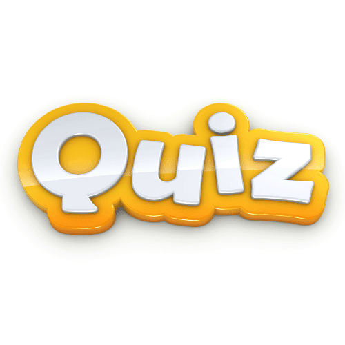Yellow 3d Quiz Button