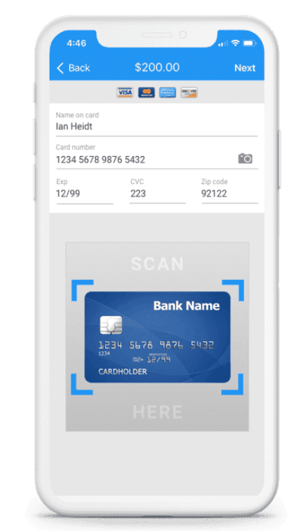 Automation Software Smartphone processing credit card