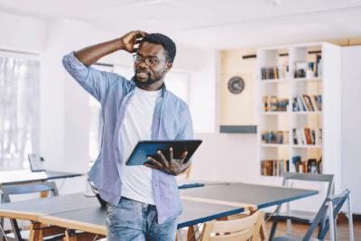 FAQ - Don't Understand - Millennial on laptop
