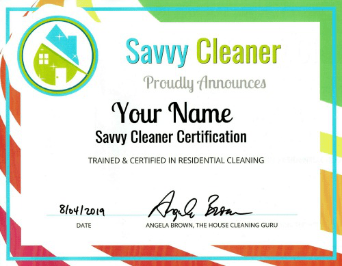 FAQ - Savvy Cleaner Certificate 500