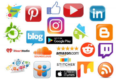 Use your name for social media - Social media icons