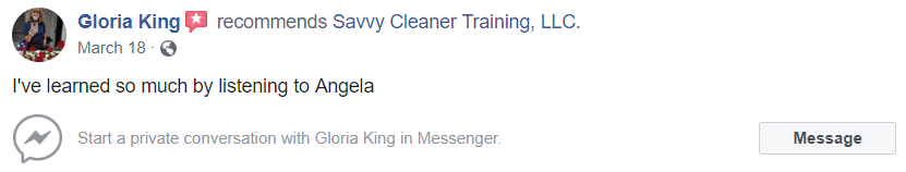 I've learned so much listening, Savvy Cleaner Training Review