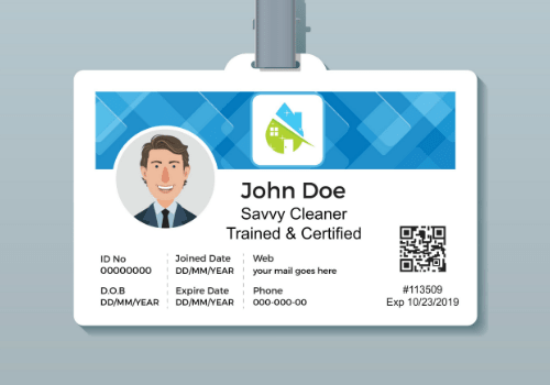 John Doe ID Card with QR Code