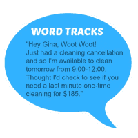 Word Tracks Cancellation