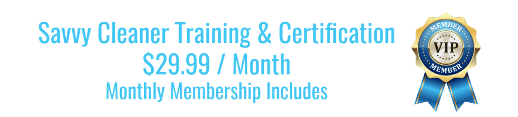 Blue Savvy Cleaner Training and Certification Membership Price