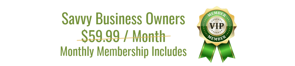 Green Savvy Business Owners Membership No Pricing