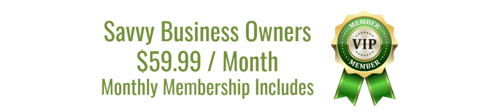 Green Savvy Business Owners Membership Pricing