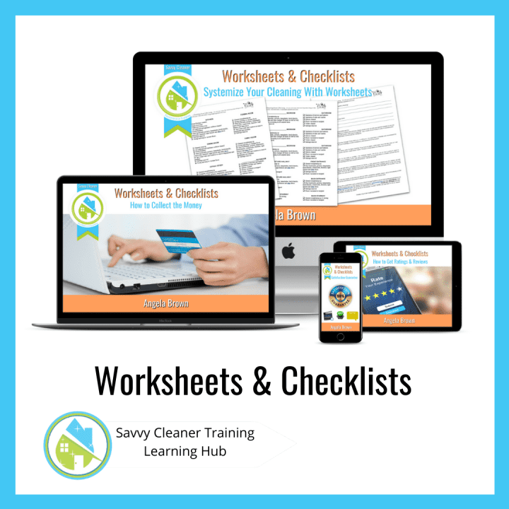 Worksheets & Checklists, Savvy Cleaner Training Course