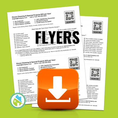 Angela Browns Flyers, Savvy Cleaner Flyers 2020