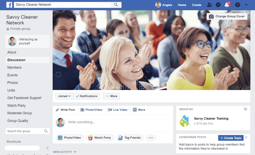 Private Facebook Group - Savvy Cleaner Network